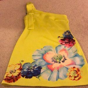One shoulder women's dress